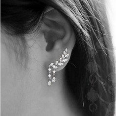 Brillant Alliage/Strass Dames Boucles d'oreilles