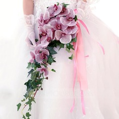 Fascinating Cascade Artificial Silk Bridal Bouquets -