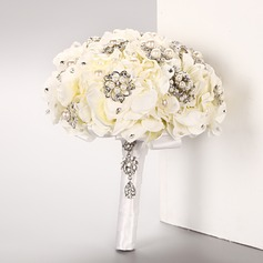 Attractive Round Artificial Silk Bridal Bouquets