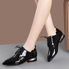 Women's Patent Leather Low Heel Flats أحذية