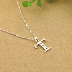 Personalized Ladies' Peace Symbol 925 Sterling Silver Initial Necklaces Necklaces For Mother/For Friends/For Couple