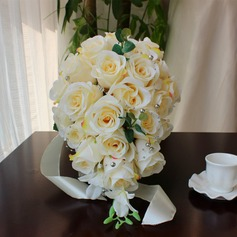 Gorgeous Round Satin/Artificial Silk Bridal Bouquets - (123116168)