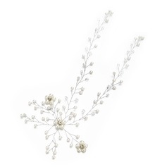 Ladies High Quality Rhinestone/Imitation Pearls Hairpins With Rhinestone (Sold in single piece)