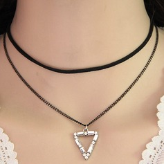 Chic Alloy Zircon Ladies' Fashion Necklace