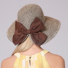 Ladies' Lovely/Unique Polyester With Bowknot Straw Hat