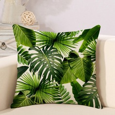 Fashion Tropical Plant Linen Pillowcases (Sold in a single piece)