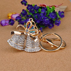 Classic Lovely Bell Design Crystal Keychains