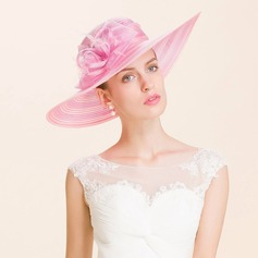 Damene ' Iøynefallende Organza Stiv / Cloche Hatt/Kentucky Derby Hatter/Tea Party Hats