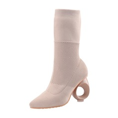 Women's Suede Others Pumps Mid-Calf Boots shoes