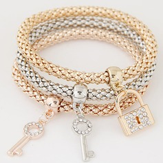 Lovely Alloy Rhinestones With Rhinestone Ladies' Fashion Bracelets (Set of 3)