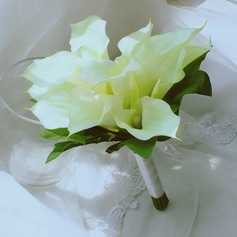 Simple And Elegant Free-Form Satin/Artificial Silk Bridal Bouquets -