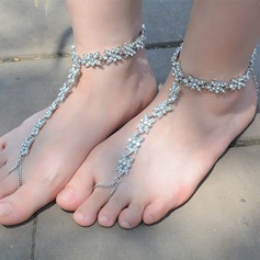 Rhinestone Alloy Foot Jewellery (Sold in a single piece) (107130788)