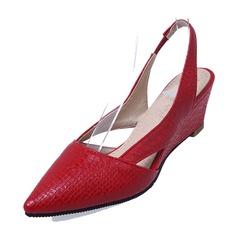 Women's PVC Wedge Heel Pumps Wedges Slingbacks shoes