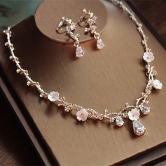 Beautiful Alloy/Rhinestones/Zircon Ladies' Jewelry Sets (011110837)