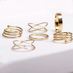 Beautiful Alloy Ladies' Fashion Rings (Set of 6)