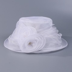 Signore Gorgeous Del organza con Fiore Cappello floscio/Kentucky Derby Hats/Cappelli da Tea Party