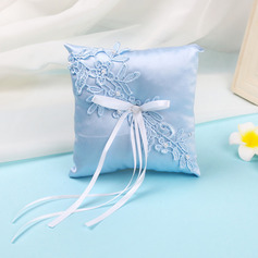 Chic Cloth Ring Pillow With Ribbons