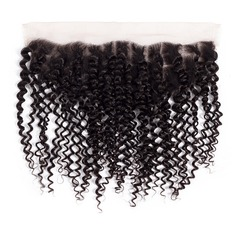 "13""*4"" 4A Kinky Curly Human Hair Closure (Sold in a single piece)"