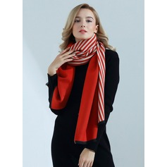 Striped Oversized/Shawls Artificial Wool Scarf