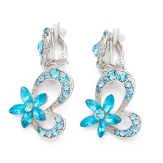 Flower Shaped Alloy With Rhinestone Ladies' Fashion Earrings