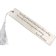 Personalized Stainless Steel Bookmarks With Tassel (118207421)