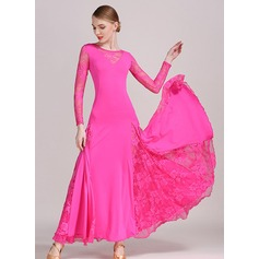 Women's Dancewear Rayon Latin Dance Performance Ballroom Dresses (115121114)