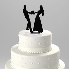 Figurine Dancing Couple Acrylic Wedding Cake Topper
