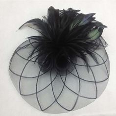Ladies' Elegant Cambric/Feather Fascinators