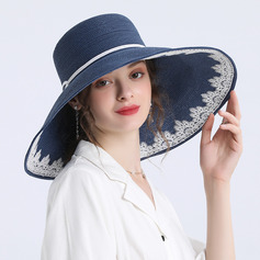Ladies' Simple/Fancy Papyrus Straw Hats/Beach/Sun Hats