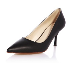 Real Leather Stiletto Heel Pumps Closed Toe shoes
