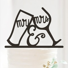 Mr. & Mrs. Acrylic Wedding Cake Topper/Anniversary Cake Topper