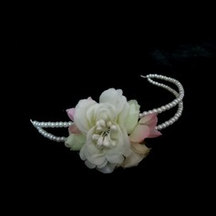 Gorgeous Imitation Pearls/Artificial Silk Headbands