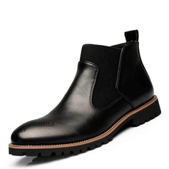 Men's Microfiber Leather Chelsea Casual Men's Boots (261171663)