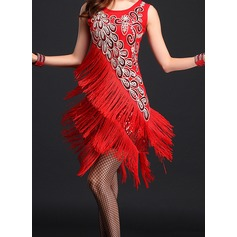 Women's Dancewear Polyester Latin Dance Dresses (115087949)