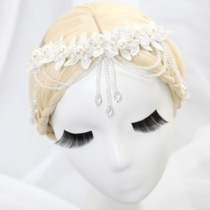 Handmade Imitation Pearls/Lace Forehead Jewelry