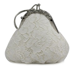 Elegant Lace Clutches/Top Handle