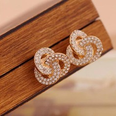 Unique Alloy Rhinestones With Rhinestone Women's Fashion Earrings (Set of 2)