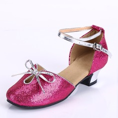 Kids' Leatherette Heels Latin Dance Shoes