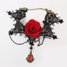 Gorgeous Alloy With Lace Ladies' Fashion Necklace