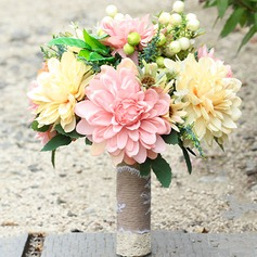 Free-Form Satin Bridal Bouquets -