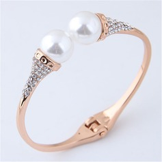 Exquisite Alloy Rhinestones Imitation Pearls With Imitation Pearl Women's Fashion Bracelets (Sold in a single piece) (137197221)