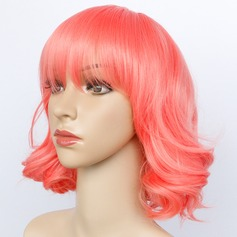 Body Wavy Mid-Length Synthetic Wigs Cosplay Wigs