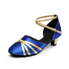 Women's Satin Heels Sandals Ballroom Dance Shoes