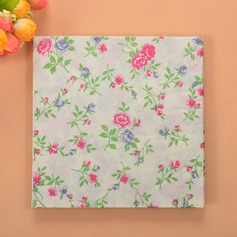 Flower Pattern Beverage Napkins