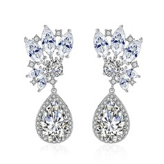 Classic Alloy/Zircon Ladies' Earrings