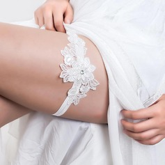 Classic Elastics With Rhinestones Wedding Garters (104071990)