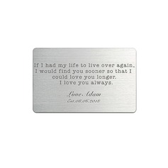 Groom Gifts - Personalized Classic Stainless Steel Wallet Insert Card