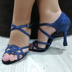 Frauen Stoff Heels Latin mit Hohl-out Tanzschuhe
