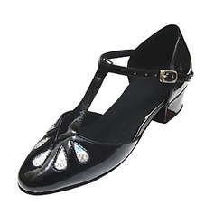 Kids' Leatherette Patent Leather Flats Ballroom With T-Strap Dance Shoes
