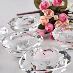 Crystal Diamond-Shaped Tea Light Holder